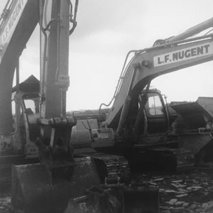 Excavator working at Sheerness docks